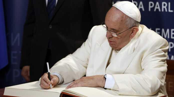 Pope pens op-ed on perils of consumerism and ideology. US Left reads, 'Justice ACB is a bad Catholic & horrible person'
